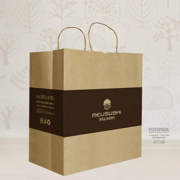 sacola de papel pizzopack