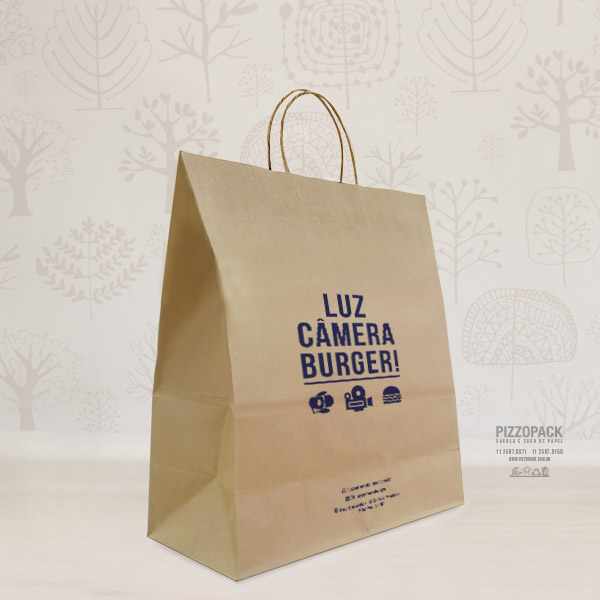 sacola de papel luz, camera, burger